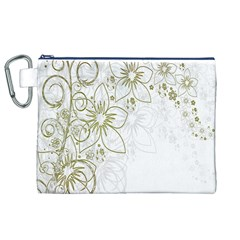 Flowers Background Leaf Leaves Canvas Cosmetic Bag (XL)