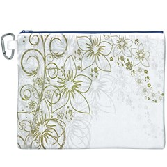 Flowers Background Leaf Leaves Canvas Cosmetic Bag (XXXL)