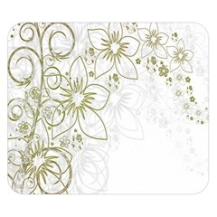 Flowers Background Leaf Leaves Double Sided Flano Blanket (Small)