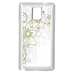Flowers Background Leaf Leaves Samsung Galaxy Note 4 Case (white)