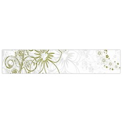 Flowers Background Leaf Leaves Flano Scarf (Small)