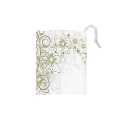 Flowers Background Leaf Leaves Drawstring Pouches (XS)