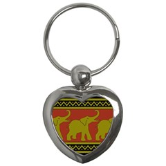 Elephant Pattern Key Chains (Heart)