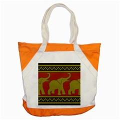 Elephant Pattern Accent Tote Bag