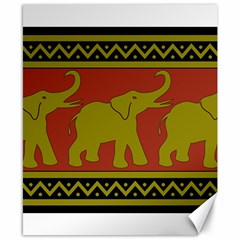 Elephant Pattern Canvas 8  x 10