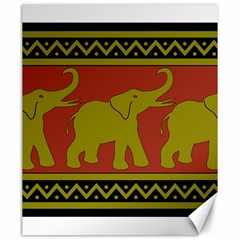 Elephant Pattern Canvas 20  x 24