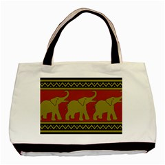 Elephant Pattern Basic Tote Bag (Two Sides)