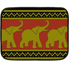 Elephant Pattern Fleece Blanket (Mini)