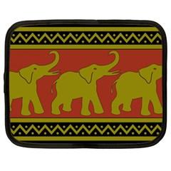 Elephant Pattern Netbook Case (XL)