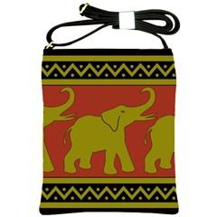 Elephant Pattern Shoulder Sling Bags