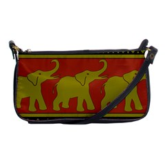 Elephant Pattern Shoulder Clutch Bags