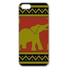 Elephant Pattern Apple Seamless iPhone 5 Case (Clear)