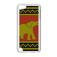 Elephant Pattern Apple iPod Touch 5 Case (White)