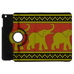 Elephant Pattern Apple iPad Mini Flip 360 Case