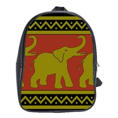 Elephant Pattern School Bags (XL)