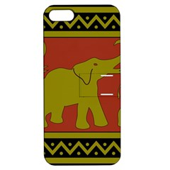 Elephant Pattern Apple iPhone 5 Hardshell Case with Stand