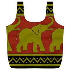 Elephant Pattern Full Print Recycle Bags (L)