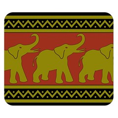 Elephant Pattern Double Sided Flano Blanket (Small)