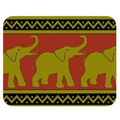 Elephant Pattern Double Sided Flano Blanket (medium)