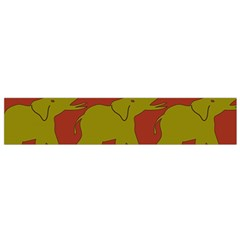 Elephant Pattern Flano Scarf (small)