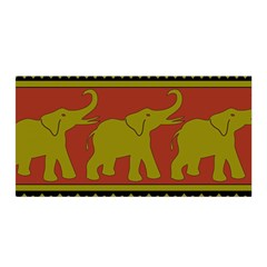 Elephant Pattern Satin Wrap
