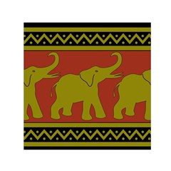 Elephant Pattern Small Satin Scarf (Square)