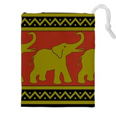 Elephant Pattern Drawstring Pouches (xxl)