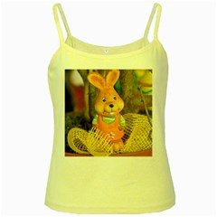 Easter Hare Easter Bunny Yellow Spaghetti Tank