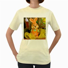 Easter Hare Easter Bunny Women s Yellow T-Shirt