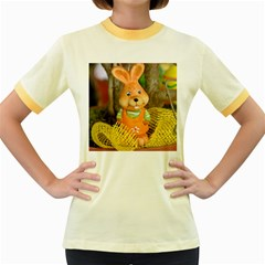 Easter Hare Easter Bunny Women s Fitted Ringer T-Shirts