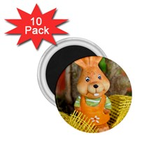 Easter Hare Easter Bunny 1.75  Magnets (10 pack)