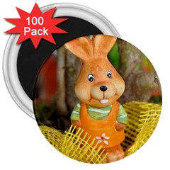 Easter Hare Easter Bunny 3  Magnets (100 pack)