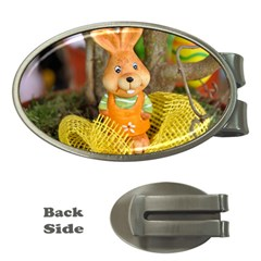 Easter Hare Easter Bunny Money Clips (Oval)