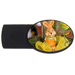 Easter Hare Easter Bunny USB Flash Drive Oval (2 GB)