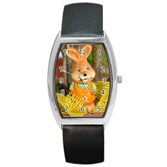 Easter Hare Easter Bunny Barrel Style Metal Watch