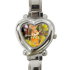 Easter Hare Easter Bunny Heart Italian Charm Watch