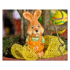 Easter Hare Easter Bunny Rectangular Jigsaw Puzzl