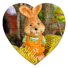 Easter Hare Easter Bunny Jigsaw Puzzle (Heart)