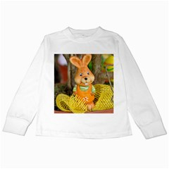 Easter Hare Easter Bunny Kids Long Sleeve T-Shirts