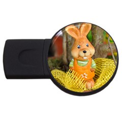 Easter Hare Easter Bunny Usb Flash Drive Round (4 Gb)