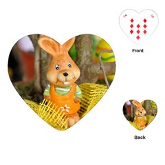 Easter Hare Easter Bunny Playing Cards (Heart)