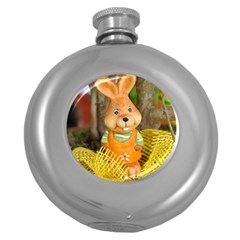 Easter Hare Easter Bunny Round Hip Flask (5 oz)