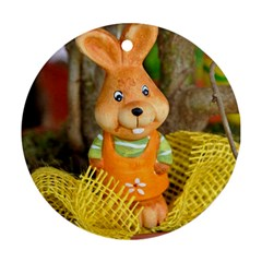 Easter Hare Easter Bunny Round Ornament (Two Sides)