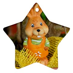 Easter Hare Easter Bunny Star Ornament (Two Sides)