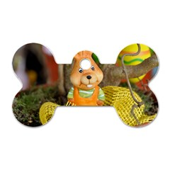 Easter Hare Easter Bunny Dog Tag Bone (Two Sides)