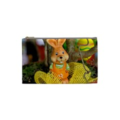 Easter Hare Easter Bunny Cosmetic Bag (Small)