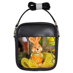 Easter Hare Easter Bunny Girls Sling Bags