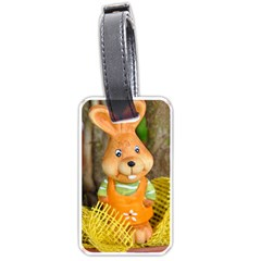 Easter Hare Easter Bunny Luggage Tags (One Side)