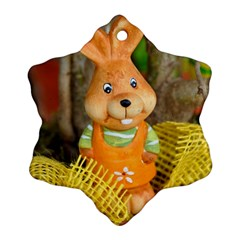 Easter Hare Easter Bunny Ornament (snowflake)