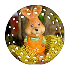 Easter Hare Easter Bunny Round Filigree Ornament (Two Sides)